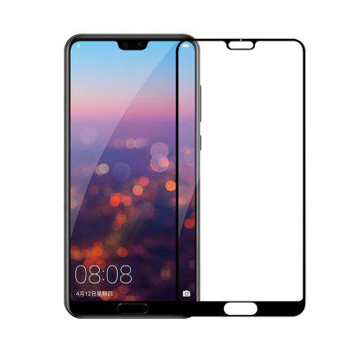 Tempered Glass for Huawei P20 Screen Protector Film Full Cover stylish protective silicone back case for iphone 5c grey