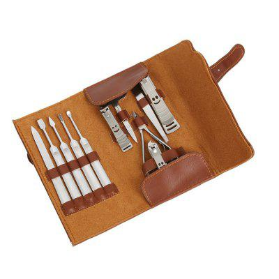Manicure Set Nail Clipper with Leather Case 11PCS