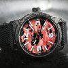 NAVIFORCE Men Quartz Luxury Brand Fashion Casual Wrist Watch - RED