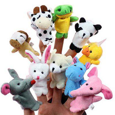 Juguetes de peluche Happy Family Fun Dibujos animados Animal Finger Puppet