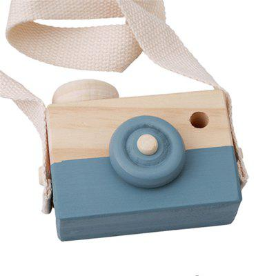 Cute Wooden Toy Camera Baby Kids Hanging Camera Photography