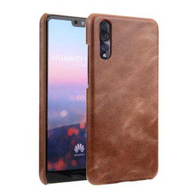 for Huawei P20 Pro Case Frosted Genuine Leather Protective Back Cover