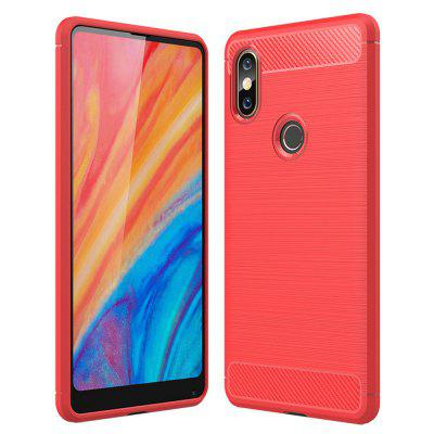 все цены на Carbon Fiber TPU Soft Cover Phone Case for Xiaomi Mi Mix 2S