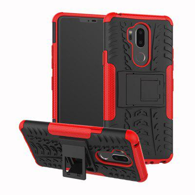 TPU + PC Dual Armor Cover with Stand For LG G7