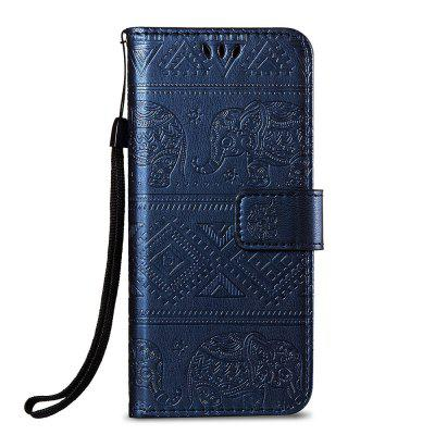 Leather Wallet Stand Flip Case for Huawei P20 Elephant Pattern elephant pattern flip pu leather wallet case w stand photo frame for iphone 6 4 7 white blue