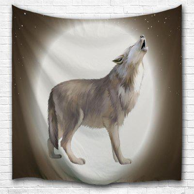 Howling Wolf Moon 3D Printing Home Wall Hanging Tapestry for Decoration