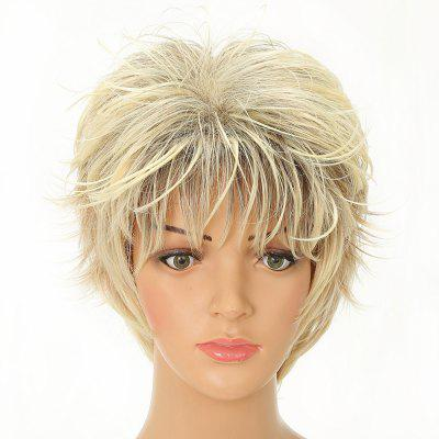 Charming Short Blonde Synthetic Wavy Hair Wigs for White Girls natural straight short pixie cut hairstyle blonde wig side bangs synthetic hair wigs for women discount wigs pelucas pelo corto