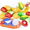 Kitchen Pretend Play Toys Cutting Vegetables Food - MULTI
