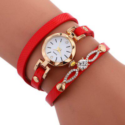Latest Fashion Artificial Diamond Quartz Watch