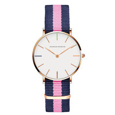 Leisure Classic Waterproof Lady Nylon Quartz Women Watch