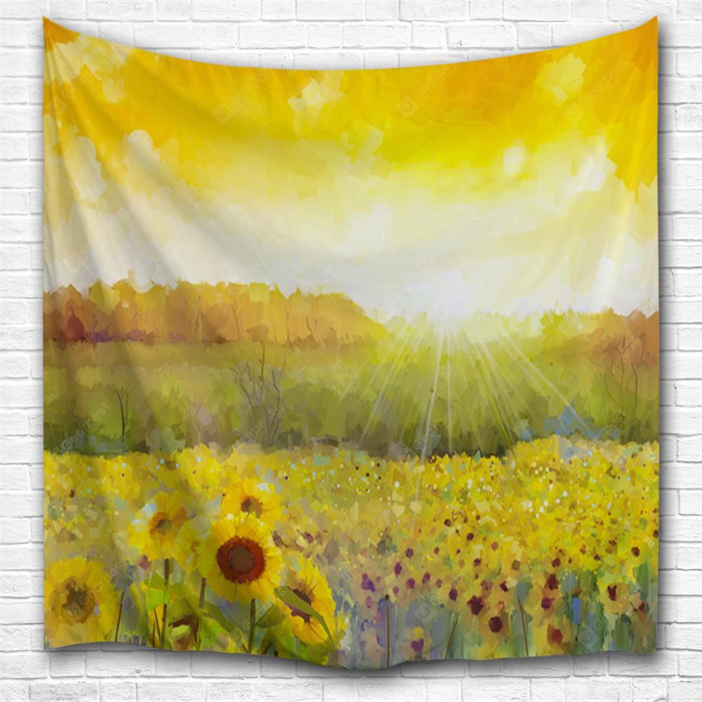 Oil Painting Sunflower 3D Printing Home Wall Hanging Tapestry for Decoration