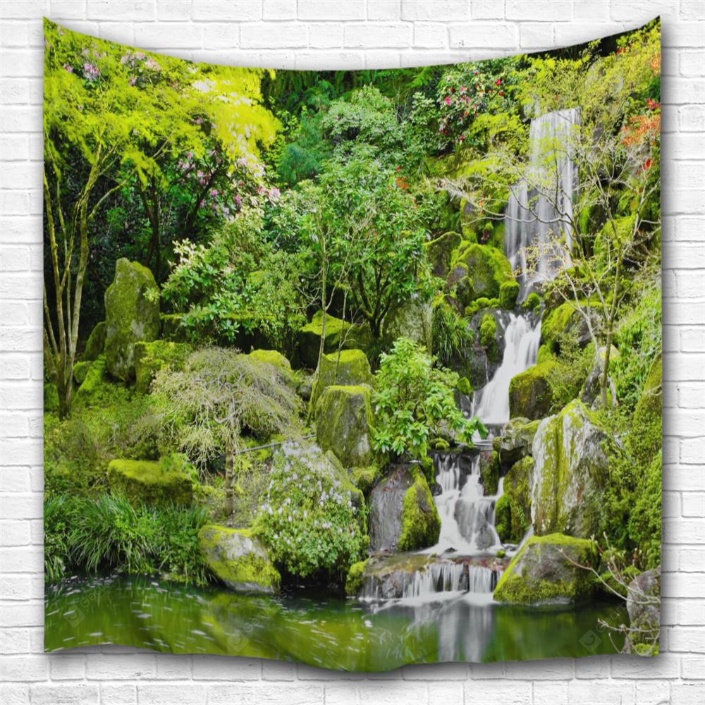 Pond Waterfall 3D Printing Home Wall Hanging Tapestry for Decoration