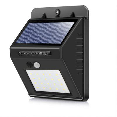 20LEDS Waterproof Solar PIR Motion Sensor Wall Lamp