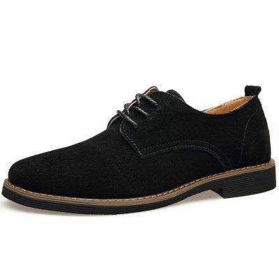 Muhuisen Men Leather Handmade Casual Scarpe comode