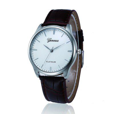 Geneva Fashion Leather Analog Quartz Watches