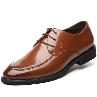 MUHUISEN Men Dress Formal Leather Lace Up  Male  Business Wedding Shoes