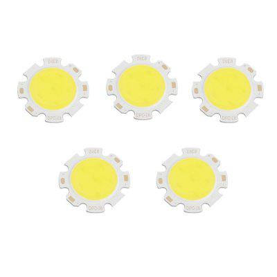 5 PCS 3W-12W Pure White Rodada COB Super Brilhante LED SMD Chip fonte de Luz Placa