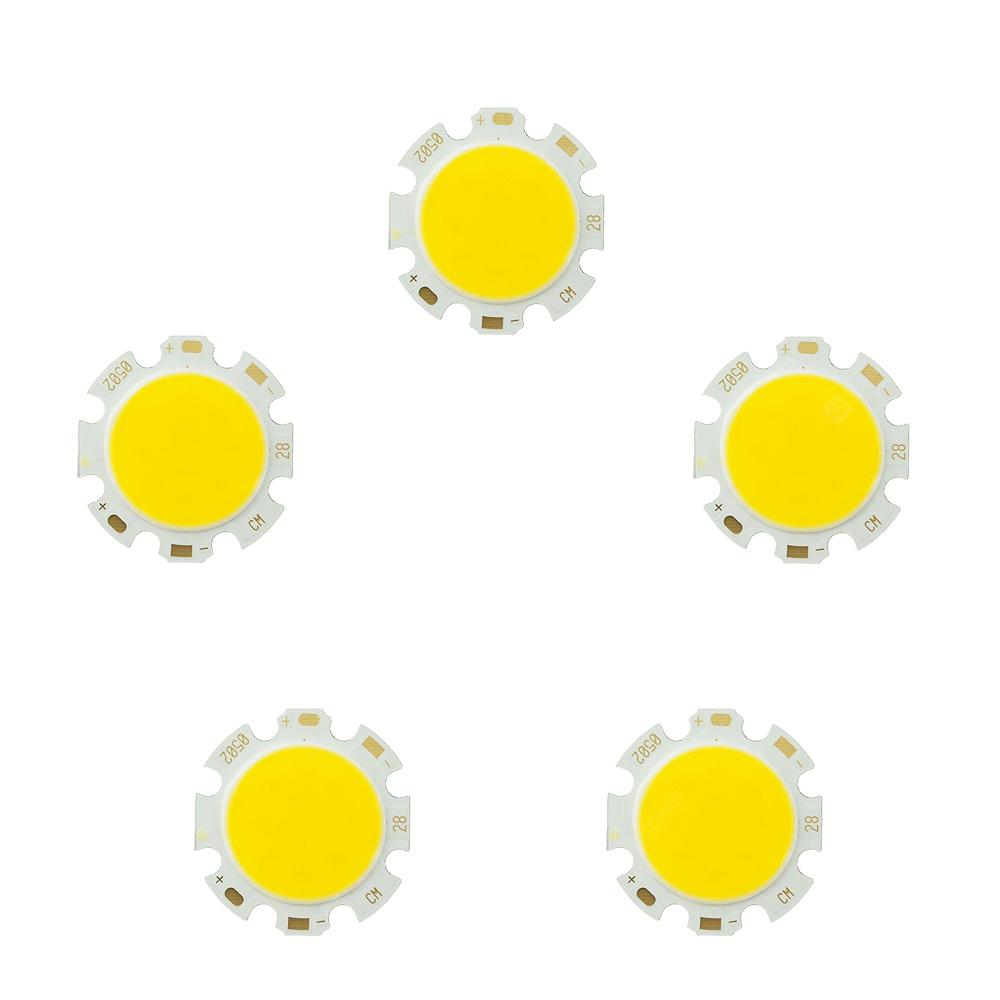 5PCS 3W-12W Pure White Round COB Super Bright LED SMD Chip Light source Board