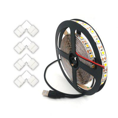 ZDM 1-3.5M USB 5V 5050 TV Tira flexible y L Tipo de conector de tira LED