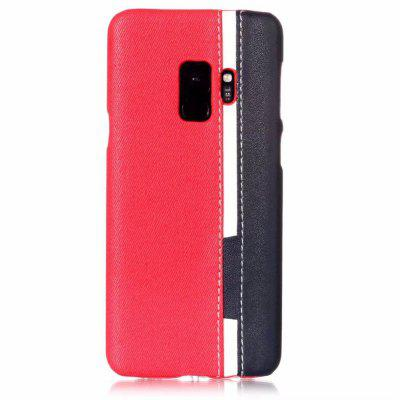 For Samsung Galaxy S9 Case Slice Color Leather Protective Back Cover cm001 3d skeleton pattern protective plastic back case for samsung galaxy s4