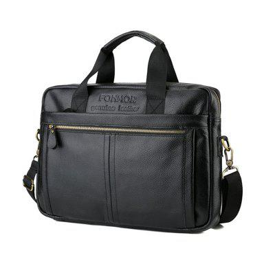 Фото Brand Men Briefcase Travel Shoulder Bags Genuine Leather Messenger Handbag