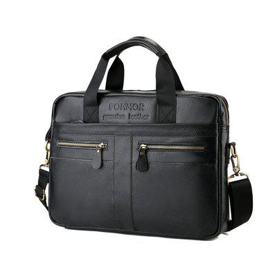 Фото Fashion Genuine Leather Briefcase for Men Laptop Bags Business Handbag