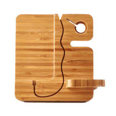 Wood Bracket Desk Dock Charging Cell Phone Watch Holder Charger Stand