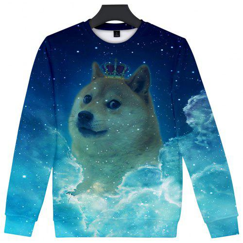 613c6ea96348 2018 New Starry Sky Crown Dog 3D Sweatshirt