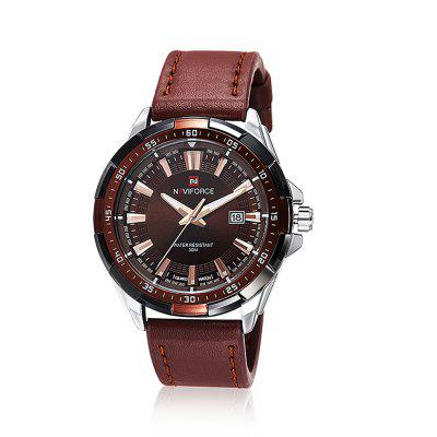 NAVIFORCE9056 Brand Waterproof Quartz Men Military Leather Sports Watches