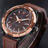 NAVIFORCE9056 Brand Waterproof Quartz Men Military Leather Sports Watches - CHESTNUT