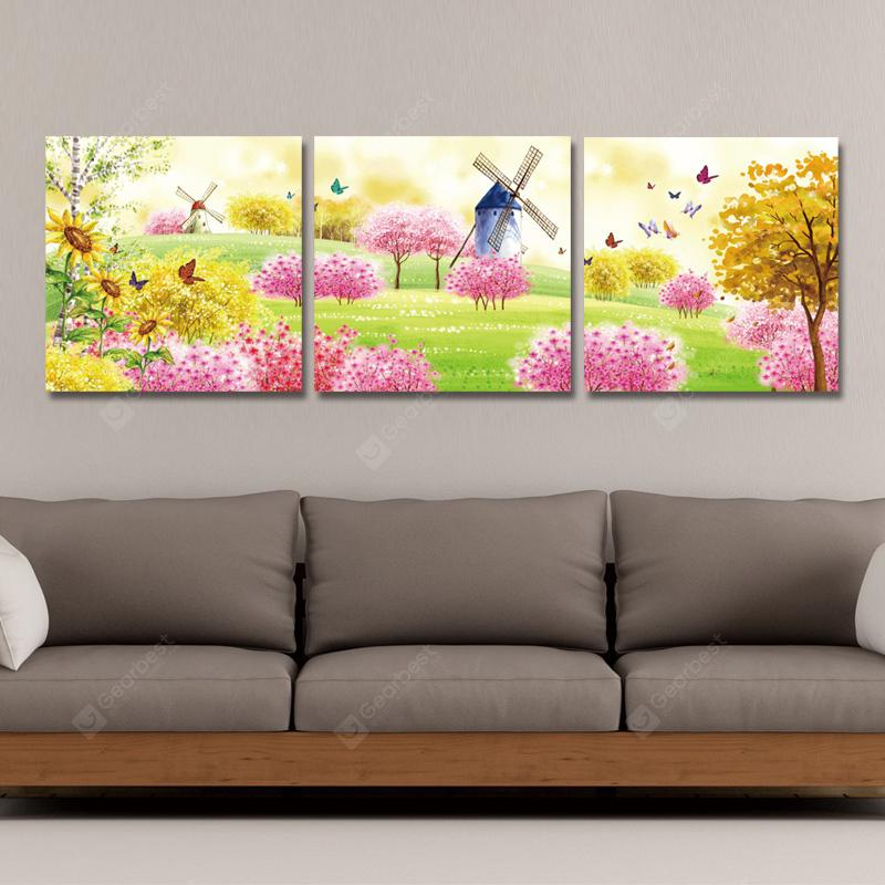 SH00115 - 2-3-4 3PCS Photography Cartoon Butterfly Tree Print Art Spray Painting