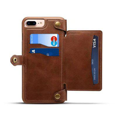 for iPhone  8 Plus / 7 Plus Case Detachable Wallet Back Cover with Card Slots