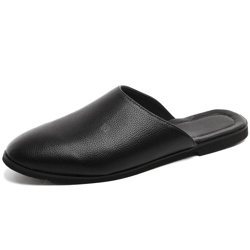 Men Solid Summer Fashion Loafer Style Slippers
