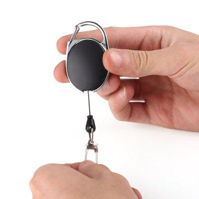 $1.11 Only for Black Retractable 60CM Extendable Zinc Alloy Wire Key Holder  14Nov