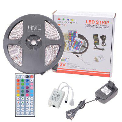 HML IP65 5050x150 RGB LED Lights Kit with 44key IR Remote Controller and EU-plug