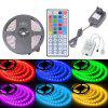HML IP65 5050x150 RGB LED Lights Kit with 44key IR Remote Controller and EU-plug - BLACK