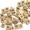 100PCS Creative Wood Chip DIY English Alphabet Baby Intelligence Development - BURLYWOOD
