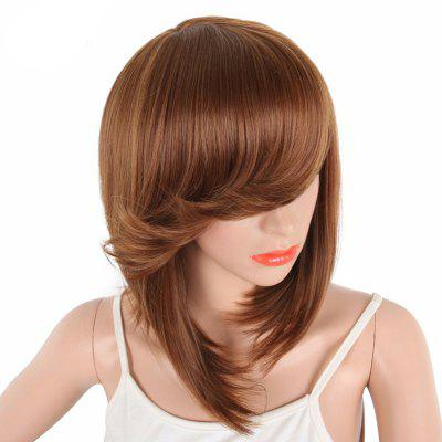 Bob Wine Red Natural Straight Synthetic Wigs for Women Side Bang natural straight short pixie cut hairstyle blonde wig side bangs synthetic hair wigs for women discount wigs pelucas pelo corto