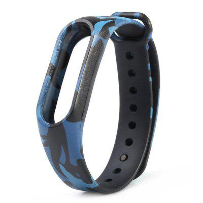 Camo Silicone Shatter-Resistant Replacement Wristband for Mi Band 2