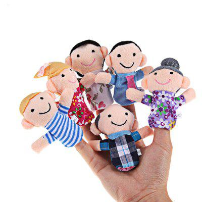 Mini Plush Baby Toy Finger Family Puppets Set Boys Girls 6szt