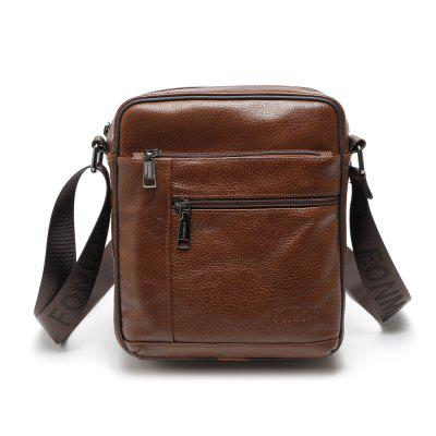 Vintage Genuine Leather Shoulder Bag for Men Business Travel Messenger Handbag mzorange 2018 genuine leather women handbag fashion tassels small round bag unique design brand lady shoulder bag messenger bag