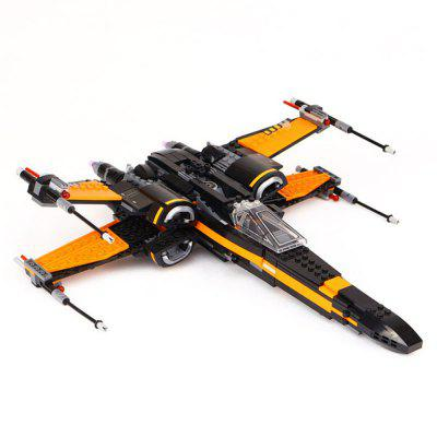 DIY Building Blocks Fighter Aircraft Model Intelligence Toy Gift