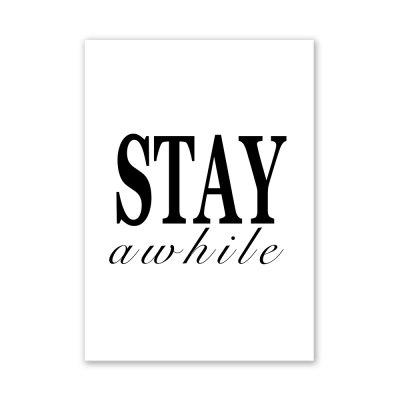 W274 Letters Frameless Wall Canvas Prints for Home Office Livingroom Decoration