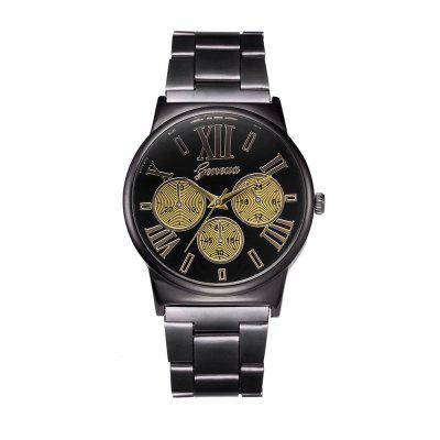 Geneva Luxury Fashion Simple Gold Steel Analog Quartz Wrist Watch hot luxury brand geneva fashion men women ladies watches gold stailess steel numerals analog quartz wrist watch for men women