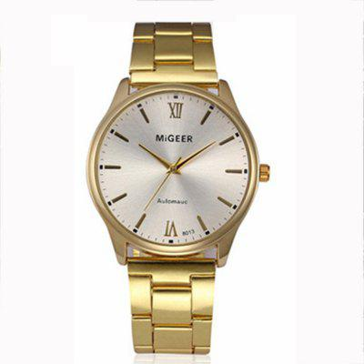 MIGEER Fashion Crystal Stainless Steel Wrist Analog Quartz Dress Watch smileomg hot sale fashion women crystal stainless steel analog quartz wrist watch bracelet free shipping christmas gift sep 5