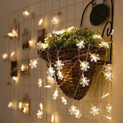 LED Snowflake String Light for Indoor and Outdoor Christmas christmas light projector led with 12 switchable patterns indoor and outdoor waterproof spotlight night light for party events
