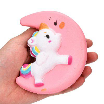 Jumbo Squishy Kawaii Cute Slow Rising Pink Moon Unicorn Kid Toy