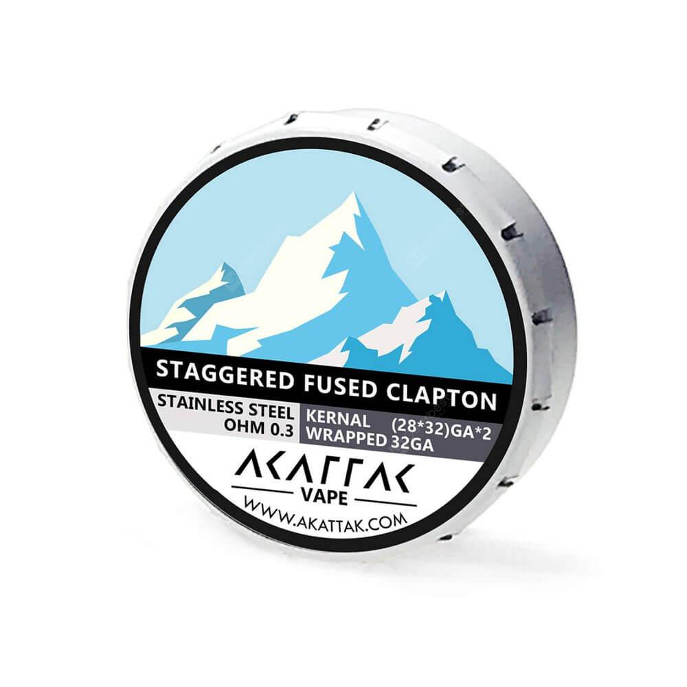AKATTAK Stainless Steel Staggered Clapton Heating wire 20pcs ...