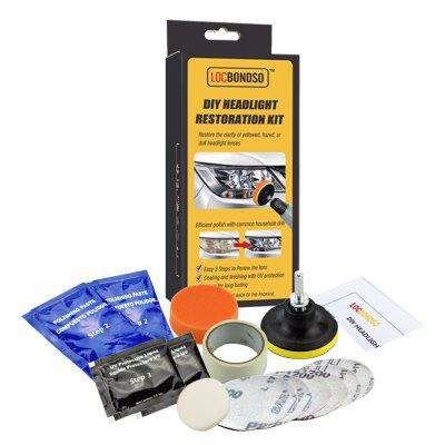 LOCBONDSO DIY Headlight Electrokinetic Scratch Restoration Kit que repara la herramienta