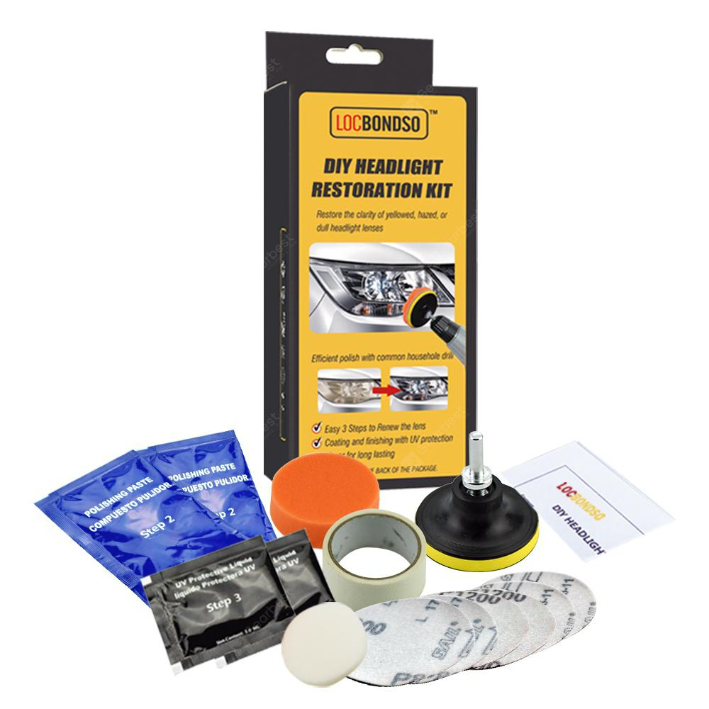 Image result for LOCBONDSO DIY Headlight Electrokinetic Scratch Restoration Kit Repairing Tool